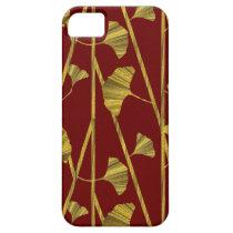 gold ginkgo iPhone SE/5/5s case