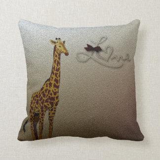 Gold Giraffe Pillow