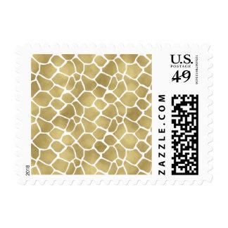 Gold Giraffe Print Postage
