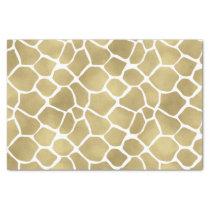 Gold Giraffe Print Tissue Paper