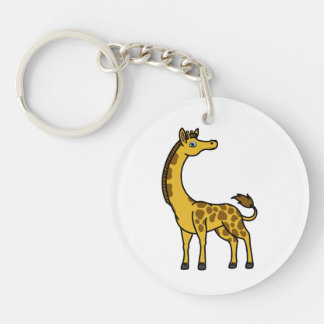 Gold Giraffe with Brown Spots Keychain
