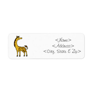 Gold Giraffe with Brown Spots Label