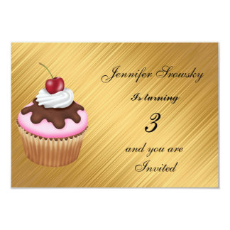 Gold Girls Birthday Party gold Card