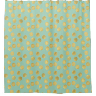 teal and gold shower curtain. Gold Glam and Mint Dots Shower Curtain Curtains  Zazzle