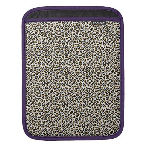 Gold Glam Black Leopard Print iPad Sleeve