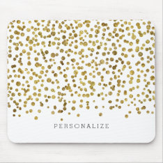 Gold Glam Confetti Mouse Pad at Zazzle