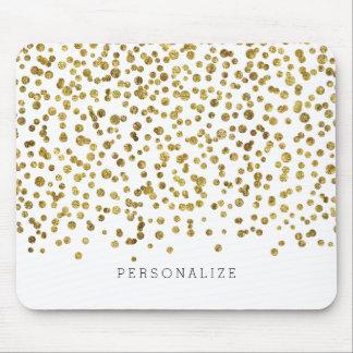 Gold Glam Confetti Mouse Pad