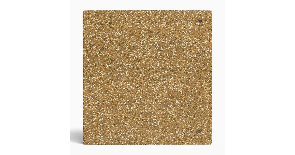 Gold Glam Faux Glitter 3 Ring Binder Zazzle Com