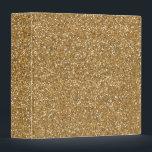"Gold Glam Faux Glitter 3 Ring Binder<br><div class=""desc"">Gold Glam Faux Glitter (image of glitter,  not actual glitter)</div>"