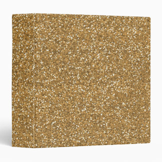 Gold Glam Faux Glitter 3 Ring Binder
