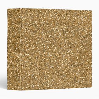 Gold Glam Faux Glitter Binders