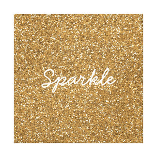 Gold Glam Faux Glitter Canvas Print