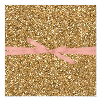Gold Glam Faux Glitter Card