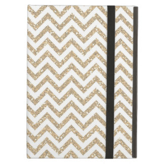 Gold Glam Faux Glitter Chevron iPad Air Case