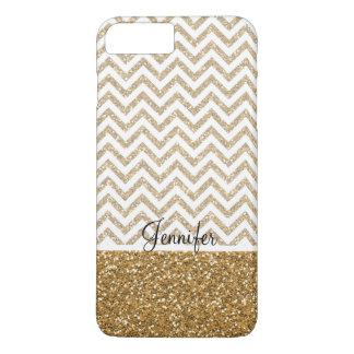 Gold Glam Faux Glitter Chevron iPhone 8 Plus/7 Plus Case
