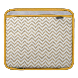 Gold Glam Faux Glitter Chevron Sleeve For iPads