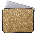 Gold Glam Faux Glitter Computer Sleeve