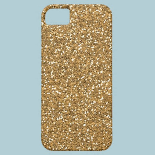 Gold Glam Faux Glitter Cover For iPhone 5/5S