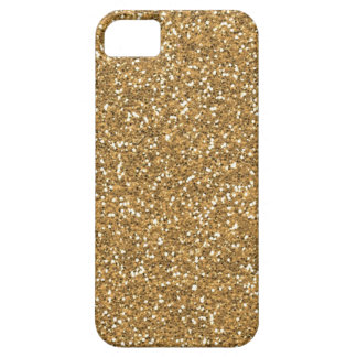 Gold Glam Faux Glitter iPhone 5 Covers