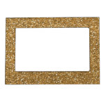 Gold Glam Faux Glitter Magnetic Photo Frame
