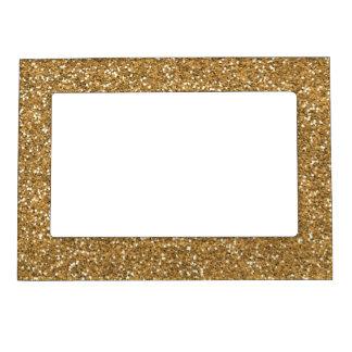 Gold Glitter Glasses Frames : Gold Glitter Magnetic Picture Frames Zazzle