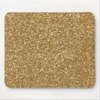 Gold Glam Faux Glitter Mouse Pad