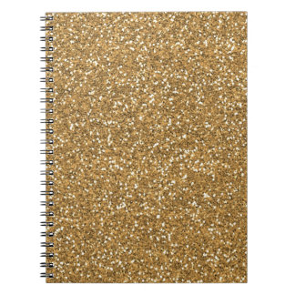 Gold Glam Faux Glitter Notebook