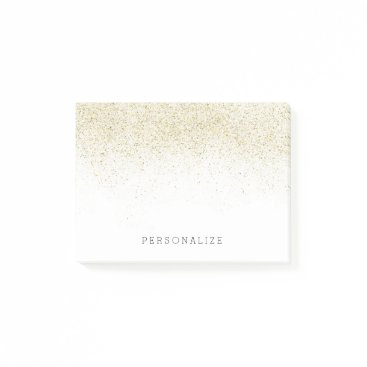 peacefuldreams Gold Glam Faux Glitter Post-it Notes