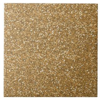 Gold Glam Faux Glitter Tile
