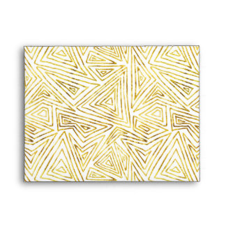 Gold Glam Triangles Abstract Geometric Envelope