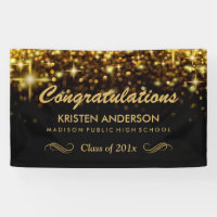 Gold Glamour Glitter Sparkles Graduation Party