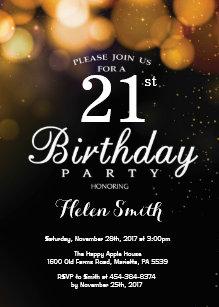 21st birthday invitations zazzle gold glitter 21st birthday invitation card filmwisefo