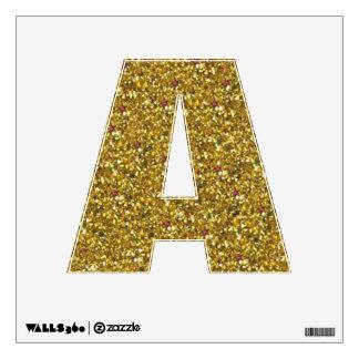 Gold Glitter A Wall Decal