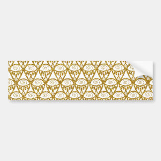 Gold Glitter Abstract Linear Geometric Pattern Bumper Sticker
