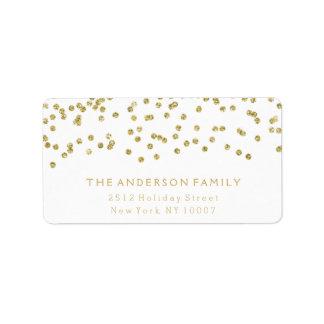 Gold glitter address label II