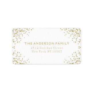 Gold glitter address label III