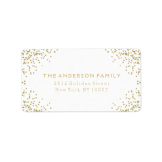 Gold glitter address label III