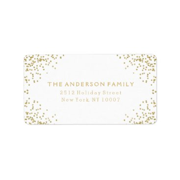 Christmas Themed Gold glitter address label III