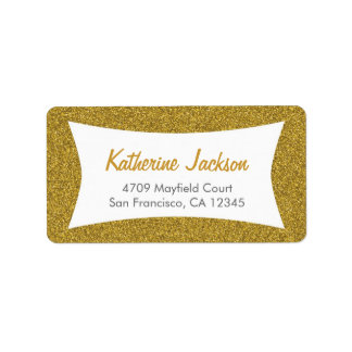 gold Glitter Address Labels