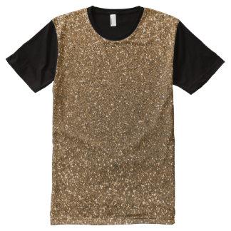 Gold glitter All-Over print shirt