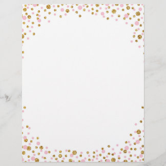 Gold Glitter and Pink Sprinkle Confetti
