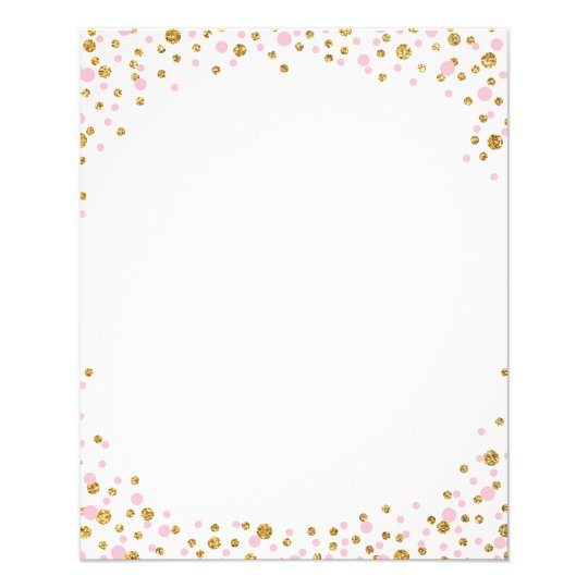 Rose Gold Confetti Border Pictures to Pin on Pinterest ...