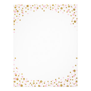 Gold Glitter And Pink Sprinkle Confetti Flyer