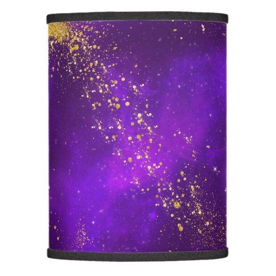 Gold Glitter and Purple Galaxy Lamp Shade