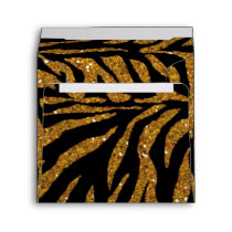 gold glitter animal pattern Envelope
