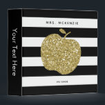 """Gold Glitter Apple Black Stripes 