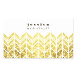 Gold Glitter Aztec Arrow Pattern Hair Stylist Card Double-Sided Standard Business Cards (Pack Of 100)