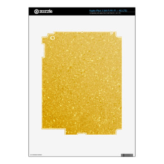 GOLD GLITTER BACKGROUND DECALS FOR iPad 3