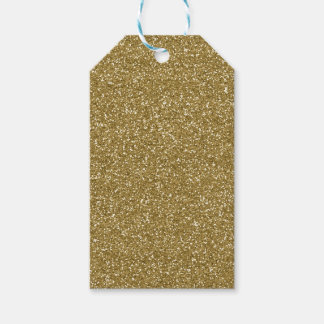 Gold Glitter Background Template Gift Tags