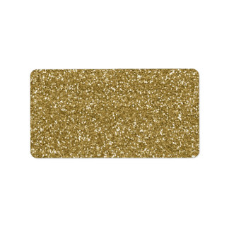 Gold Glitter Background Template Label
